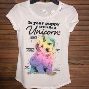 Justice Unicorn Puppy Top